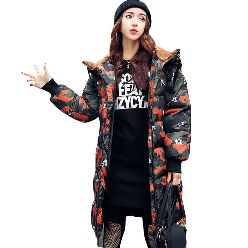 Women s Winter Jacket Medium long Down Cotton Female Parkas Plus Size Winter Coat Women Slim