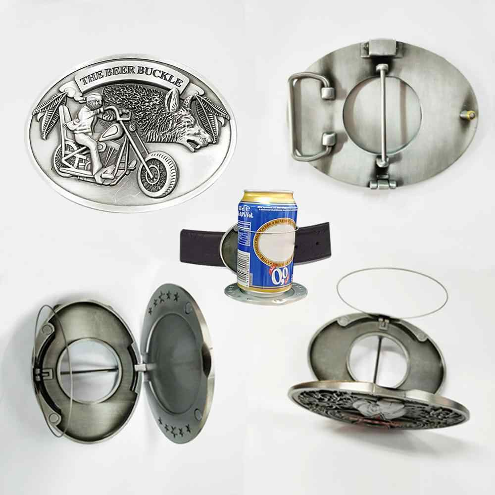 10.2x8cm Metal Beer Head Belt Funny Bottle Buckle for Camping Picnic Wine Can Holder Outdoor Tableware Ride Ancient Tin