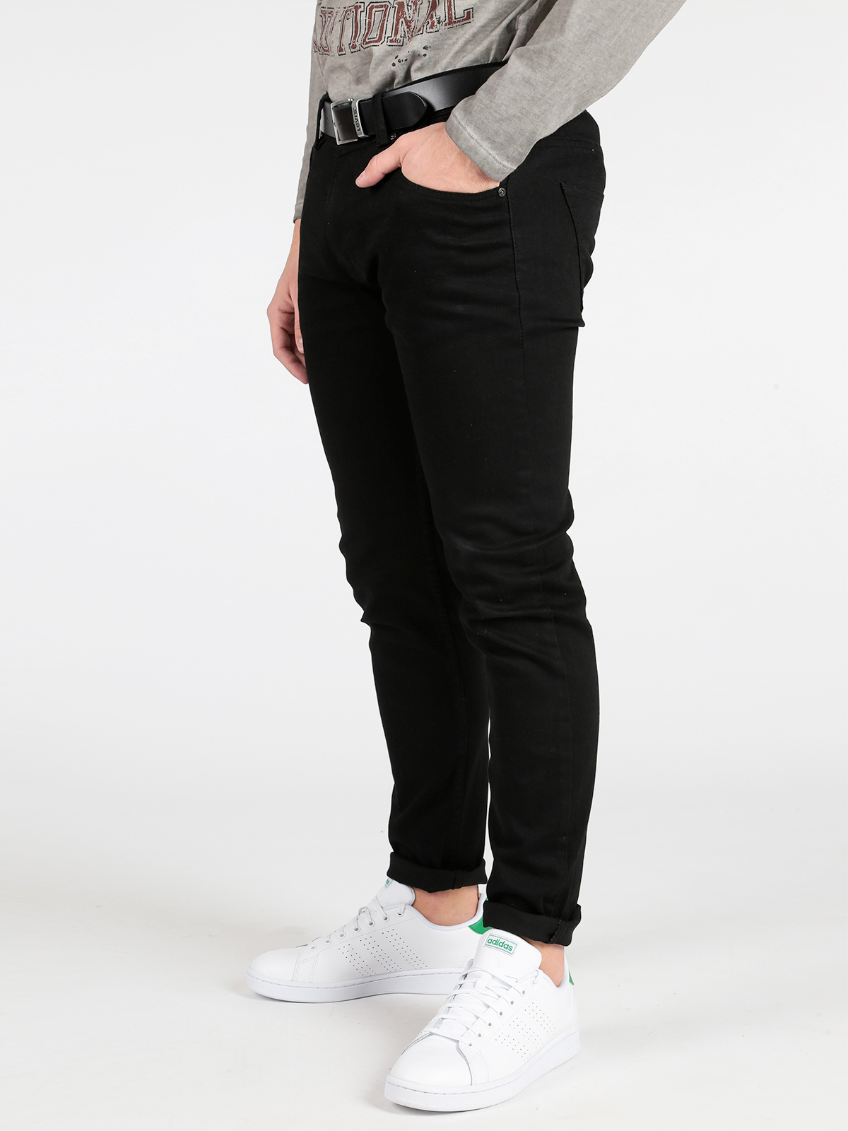 Black Trousers Cotton Blend