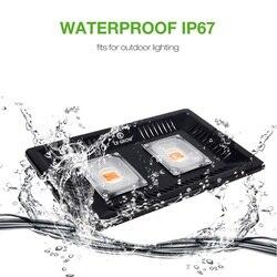 CF GROW Full Spectrum LED Grow Light Waterproof IP67 100W 200W COB Growth Flood Light for Plant Indoor Hydroponic Greenhouse