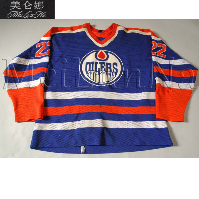 цена на MeiLunNa Custom AHL Nova Scotia Oilers Hockey Jerseys 91 Butch Goring 14 Mike Moller 22 Buchberger Home Road Sewn Any Name NO.