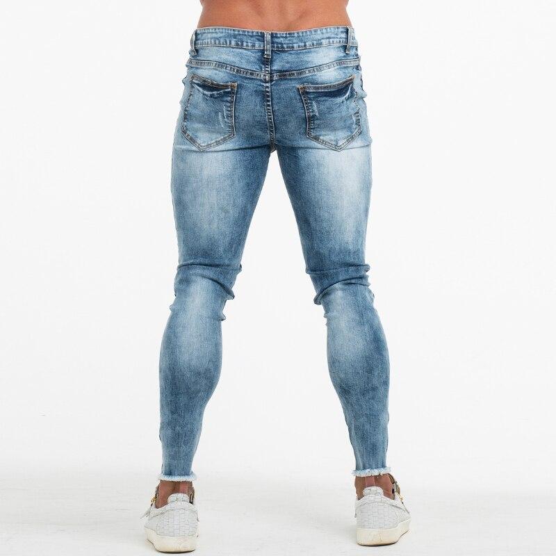 baratas para descuento 9eb6f 399e1 Pantalones vaqueros rasgados de GINGTTO para hombre ...