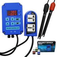 Digital pH ORP Redox 2 in 1 Controller Monitor w/ Output Power Relay Control Aquarium Hydroponics Plant Pool Spa 110V or 220V