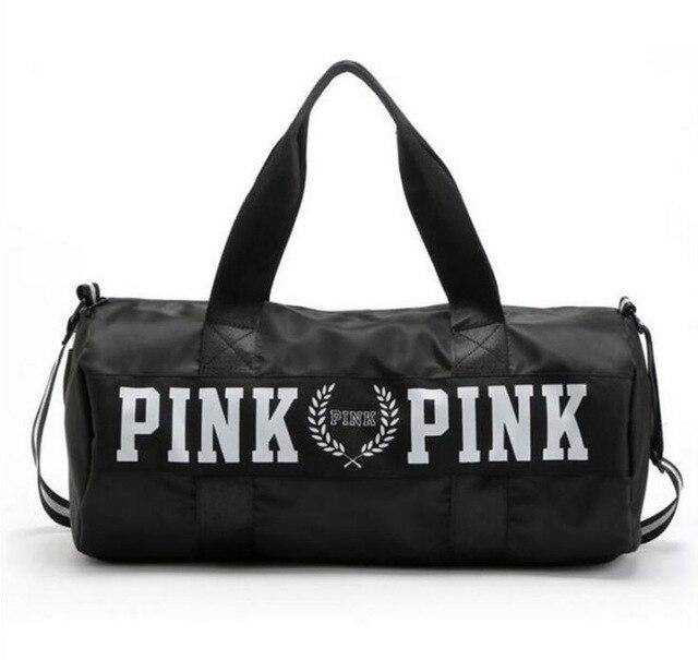 vs love pink girl bolsa de viaje bolsa de lona mujeres viajan bolsos - Bolsas para equipaje y viajes