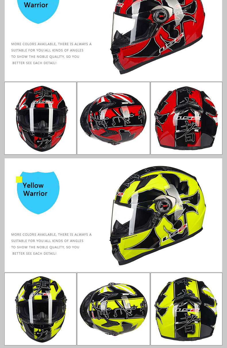 LS2 Clown full face motorcycle helmet ls2 FF358
