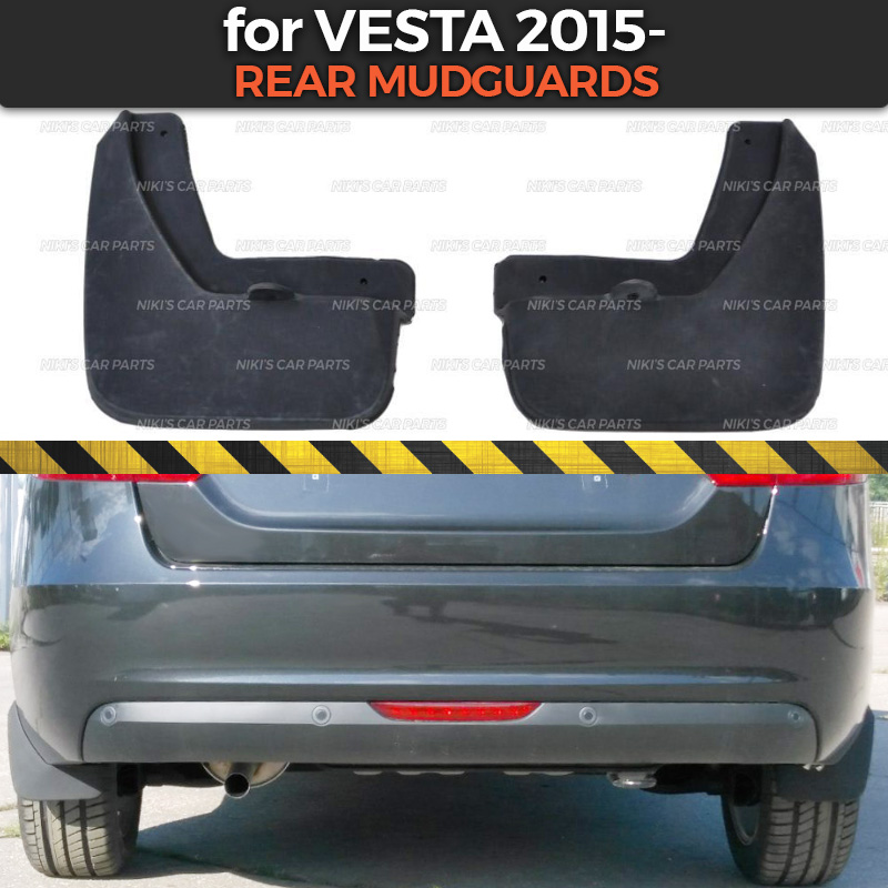 Брызговики для Lada Vesta 2015 на задних колесах, накладка, аксессуары, брызговики, широкие Брызговики, брызговики для автомобиля-in Грязезащита from Автомобили и мотоциклы on AliExpress