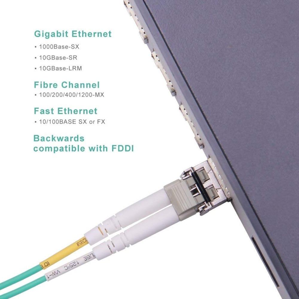 4 adet 10Gtek 1 M (3.3ft) LC-LC OM3 Dubleks Modlu 10G Fiber Kablo - İletişim Ekipmanları - Fotoğraf 6