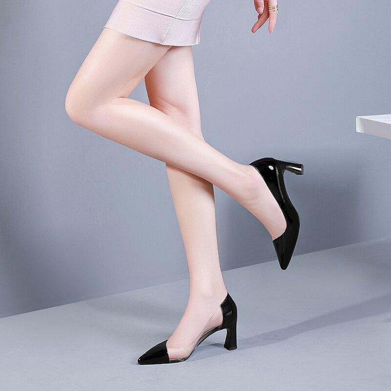 Bombas gris De Alto Mujer Verde Moda 2019 blanco Para Tacón Tacones Transparente Zapatos Negro Sexy wUxZSxA