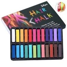 Set of 24 Hair Chalk Temporary Hair Dye Set