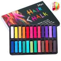 Temporary 24 Colors crayons for hair Non-toxic Hair color Chalk Dye Pastels Stick DIY styling tools for Girls Kids Party Cosplay