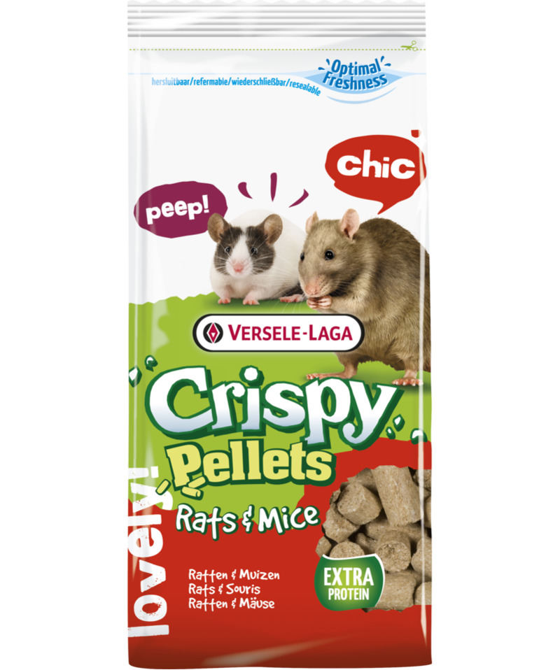 Rodent food VERSELE-LAGA forage for rats and mice Crispy Pellets Rats & Mice granulated 1kg