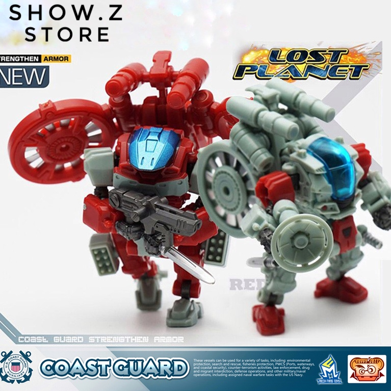 [Show.Z Store] MechFansToys Mech Fans Toys MFT Lost Planet Coast Guard CG01 White Shark & CG02 Red Dragon Action Fig