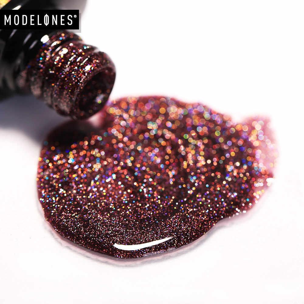 Modelones 10 Ml Shimmer Neon Uv Nail Vernissen Led Lamp Vernis Semi Permanente Uv Nail Gel Polish Nail Art Schoonheid regenboog Nail Gel