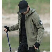 Tactique imperméable veste hommes peau de requin doux Shell militaire Camoufalge manteau chasse pêche Outwear coupe-vent vestes hommes
