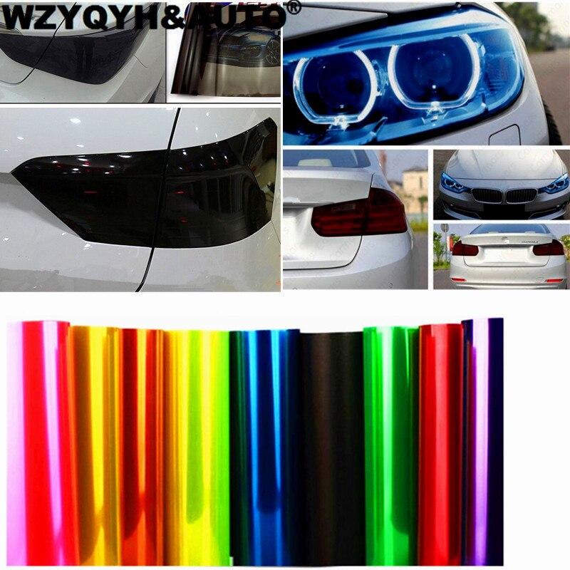 NEW 30cm X 100cm Auto Car Tint Headlight Taillight Fog Light Vinyl Smoke Film Sheet Sticker Cover 12inch X 40inch Car Styling