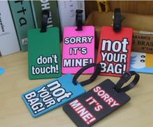 zhuoku PVC soft rubber luggage tag ID address holders green suitcase tags travel accessories