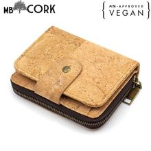 Natural cork women wallet bifold wallet cork bag leather zipper vegan card holder wallet  handmade from PORTUGAL  bag-249 rustic natural cork wallet for men cork vegan handmade casual wooden eco wallet from portugal bag 200