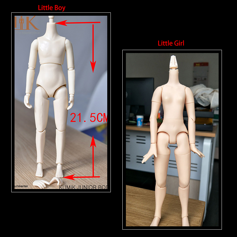 KUMIK 1//6 Small Girl Female Body//Little Boy 21.5cm Juniores Male Action Figure