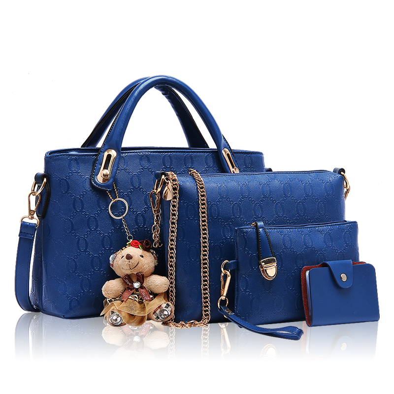 Women Bag Top-Handle Bags of a new designer Bag of the four pieces of the upgrade of the Handbag Set PU Leather Composite Bag chinese chronological stamps 2006 23 the four treasures of the study a full set of a total of 4 pieces of special stamps