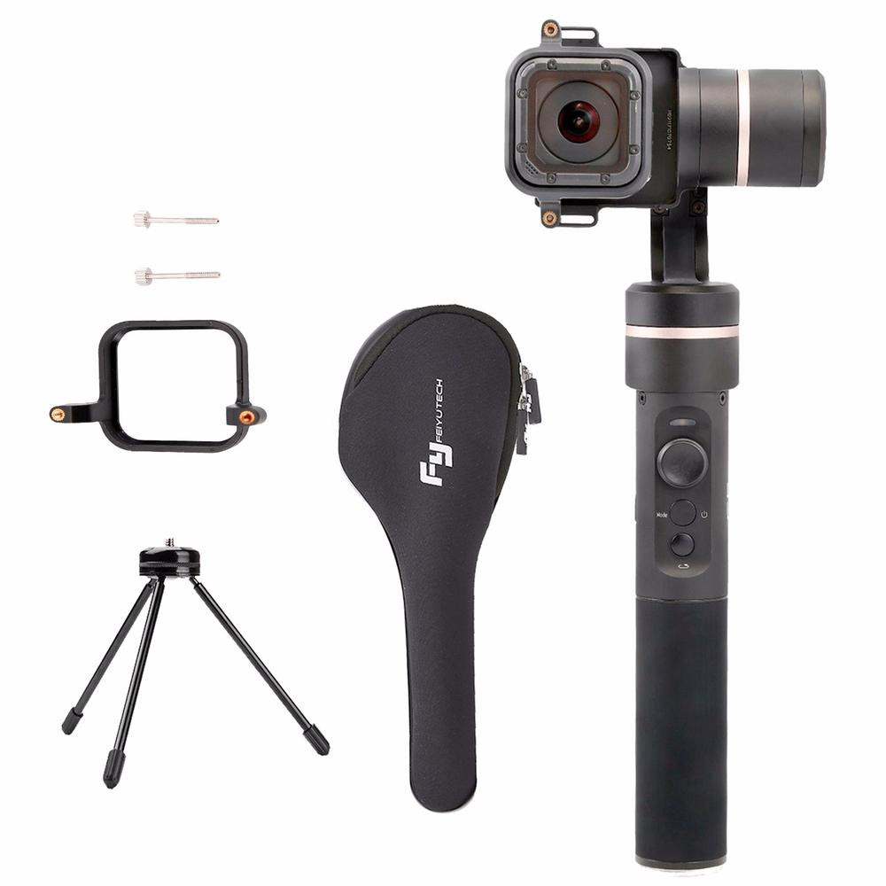Feiyu G6 3-Axis Handheld Gimbal ,Compatible with GoPro Hero 6//5//4//3//Session Yi Cam 4K - Splash Proof Sony RX0 Updated Version of G5 AEE Action Cameras of Similar Size