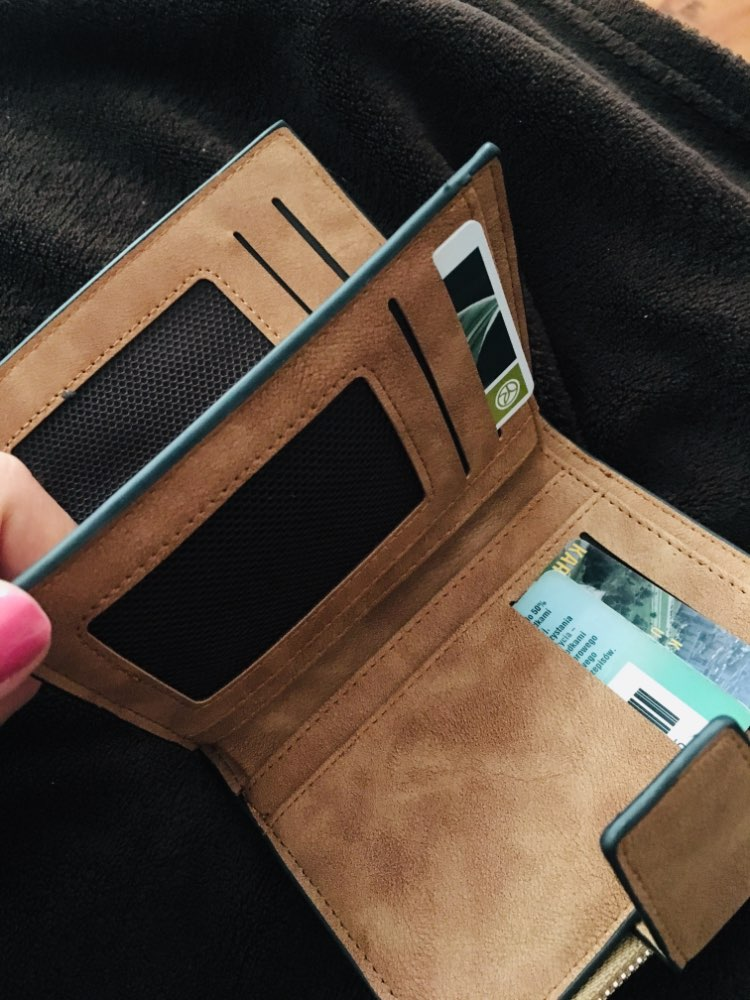 Fashion Lady Letter Wallet Zipper Short Clutch Solid Vintage Matte Women Wallet Fashion Small Female Purse Short Purse photo review