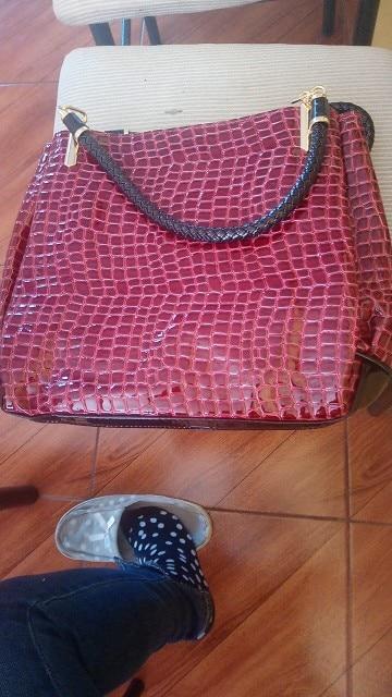 Famous Designer Brand Bags Women Leather Handbags 2019 Luxury Ladies Hand Bags Purse Fashion Shoulder Bags Bolsa Sac Crocodile photo review