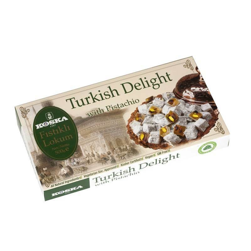 Koska Turkish Delight With Pistachio 500 Gr. NEW LISTING Delicious