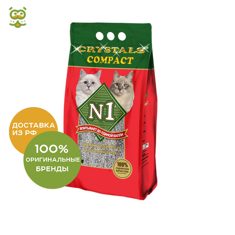 Cat litter №1 Compact, 5 liters. complete counting cocktail safety solve 4x4 liters 1 case
