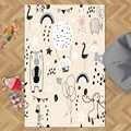 Розовый Пол Белый Черный забавные животные для девочек 3d принт Нескользящая микрофибра для гостиной декоративный современный моющийся ков...