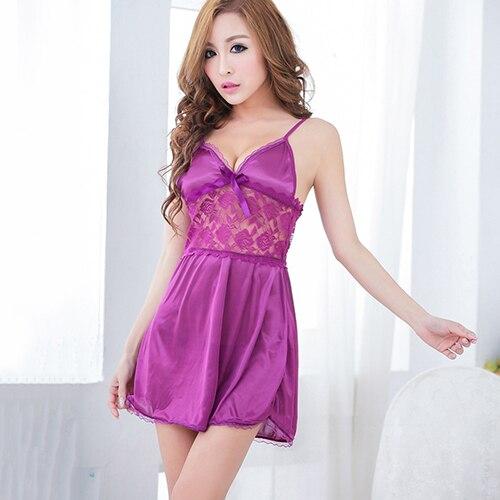 Women Sexy font b Gown b font Lace Patchwork Underwear font b Night b font Robe