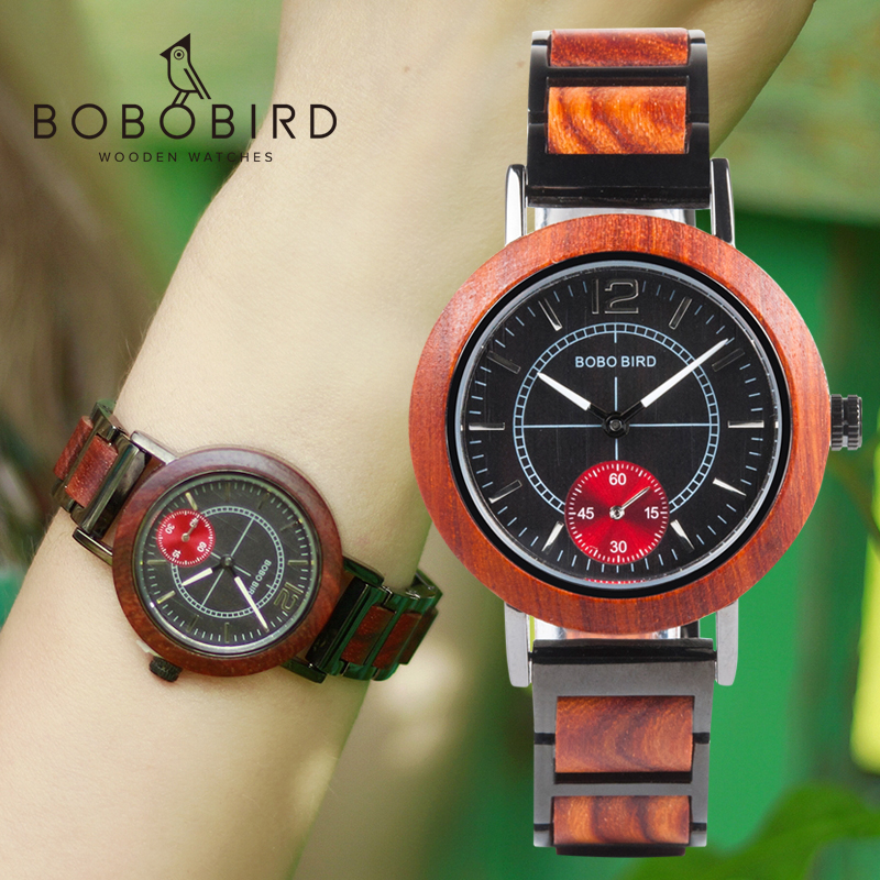 Les Montres BOBO BIRD Wooden Men Watches Top Brand Luxury Stylish Women Quartz Watch Personalized Gifts For Couples