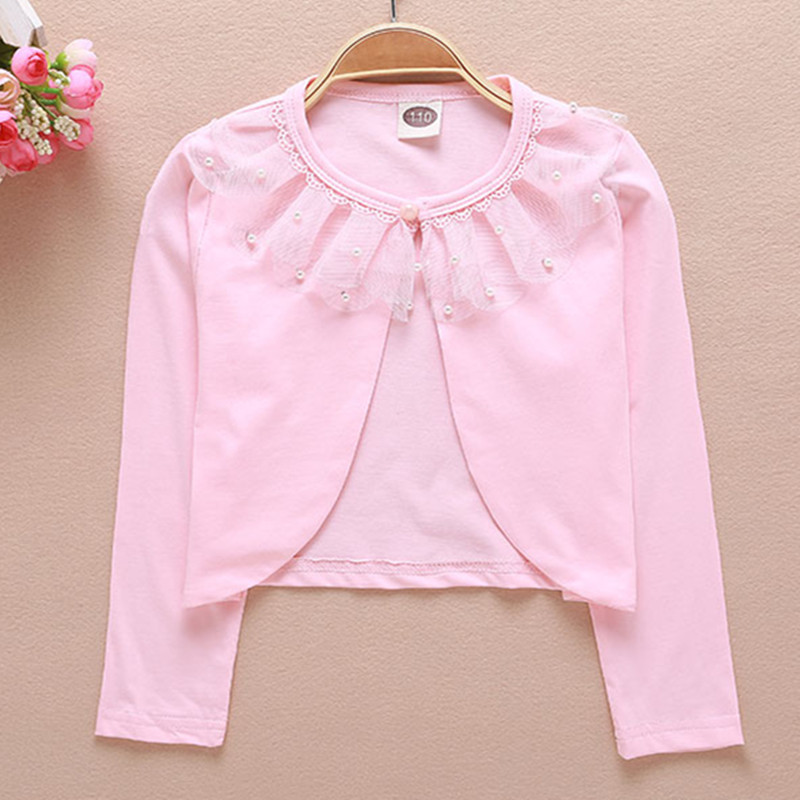 Aliexpress.com : Buy 2017 Girls Cardigan White Pink Cotton Sweet ...