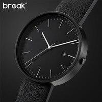 Men Women Fashion Charm Watch Luxury Quartz Dial Clock Leather Wristwatch Stainless Steel Round Case Analog
