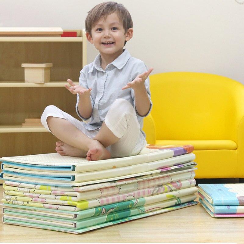 Bébé jouer au sol jouer infantile XDE mousse deux côtés dessin animé épaissi jeu tapis pliable activité ramper tapis en vente mat009