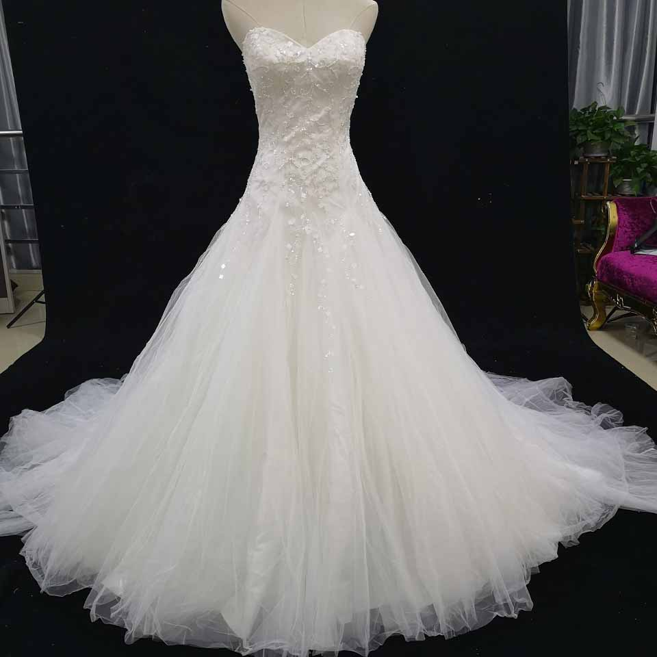 Sell Your Wedding Gown: Sweetheart Ball Gown Wedding Dress Ivory Bridal Gowns Real
