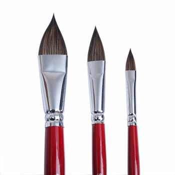 MEEDEN Artist Sable Hair Oval Wash Paint Brushes, Cats Tongue Shape Set for Watercolours Gouache Illustration Animation, 3 Pcs - DISCOUNT ITEM  8% OFF All Category