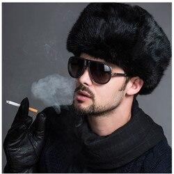 2018 Fashion men Warm Genuine Fur Hats Rex Rabbit Winter Fur Caps Female Quality Casual Beanies