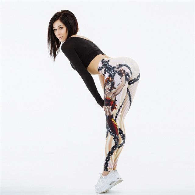 High Elastic 3D Printed Push Up Fitness Sporting Slim Legging
