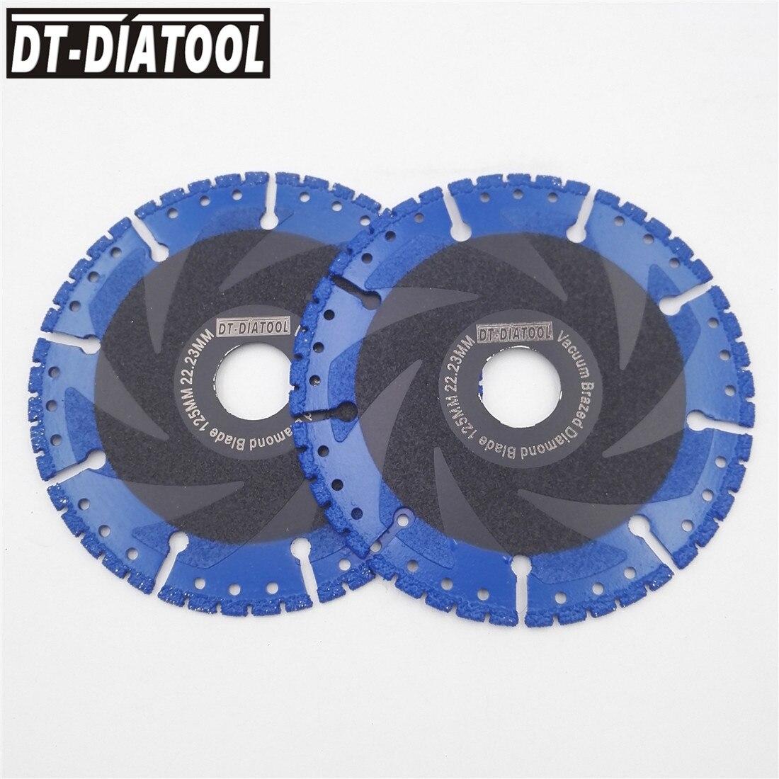 DT DIATOOL 2pcs 5 Vacuum Brazed Diamond cutting Disc all Purpose saw blade 125mm Rescue Diamond