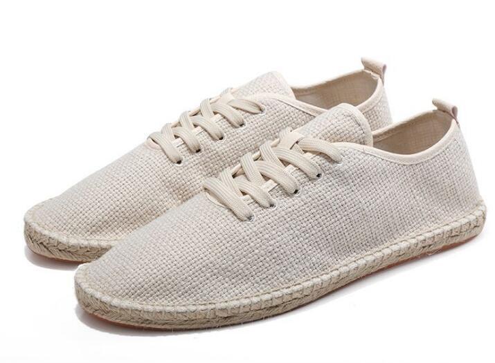 Sapatos de lona masculina respirável mocassins deslizamento