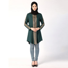 Encaje Tops Vestido De Jubah Casual Mujer Musulmana Abaya Camisa Ramadán Suelto Túnica Árabe Kaftan Traj Cremallera Estilo EXHqgHxU