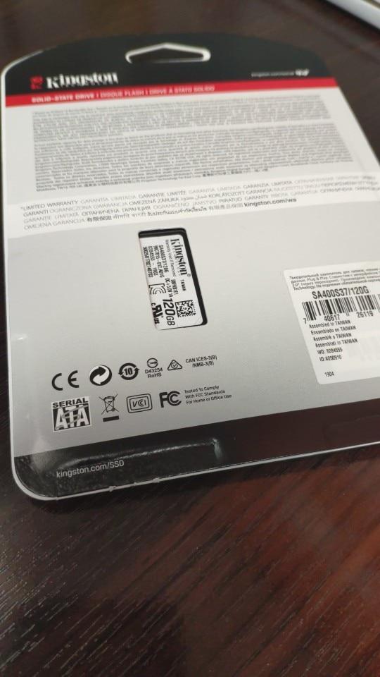 Внутренний жесткий диск SSD A400  Kingston SA400S37/120G 120ГБ
