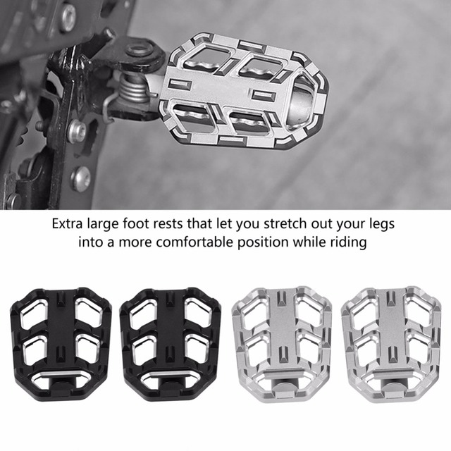 Motorcycle Billet Wide Foot Pegs Pedals Rest Footpegs Universal for BMW G310R G310GS R1200GS LC S1000XR 2015 2016 2017 2018