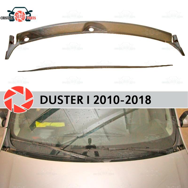 Jabot bajo el parabrisas para Renault Duster 2010-2018 protector de cubierta bajo la capucha accesorios de protección estilo de coche