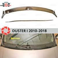 Jabot bajo el parabrisas para Renault Duster 2010-2018 protector de la cubierta bajo el capó accesorios de protección de estilo de coche