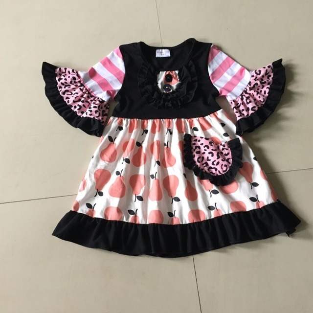 4c424ac7faae Striped style 100% cotton Summer with Ruffle trim hem and Half small Flare  sleeves Baby