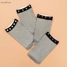 4 Designs Chic Streetwear Women's Harajuku Breathable Rivet Fishnet Socks Sexy Hollow out Nets Socks Ladies Mesh Sox Hosiery