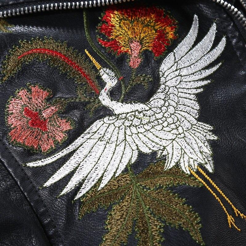 Cuir Japonais Ta1165 1 En Veste Femmes Faux Brodé Style Vestes Kimono 4wqnZO