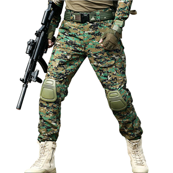 Camouflage Tactical Pants Men Army Military Combat Camo Pant With Knee Pads Outdoor Hunting Multi Pockets Loose Trousers Clothes