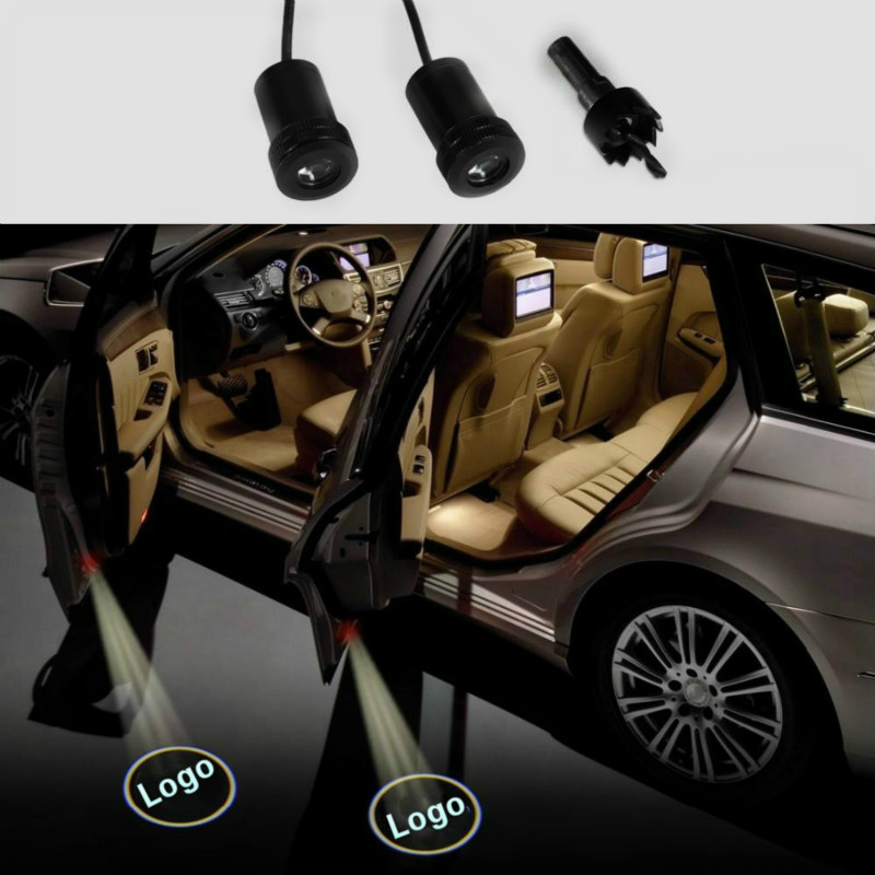 JURUS 2017 new high-quality led for subaru ghost shadow auto logo a pair universal car led door welcome projector light pair wu tang clan hip hop logo car door welcome projector lamp shadow logo led light puddle ghost light 12v 1904